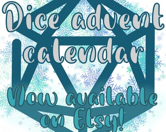 Polyhedral Dice Advent(ure) Calendar - For Dungeons and Dragons, RPGs, Tabletop Gaming, Nerdy Advent Christmas Gift, D20 Advent Calendar