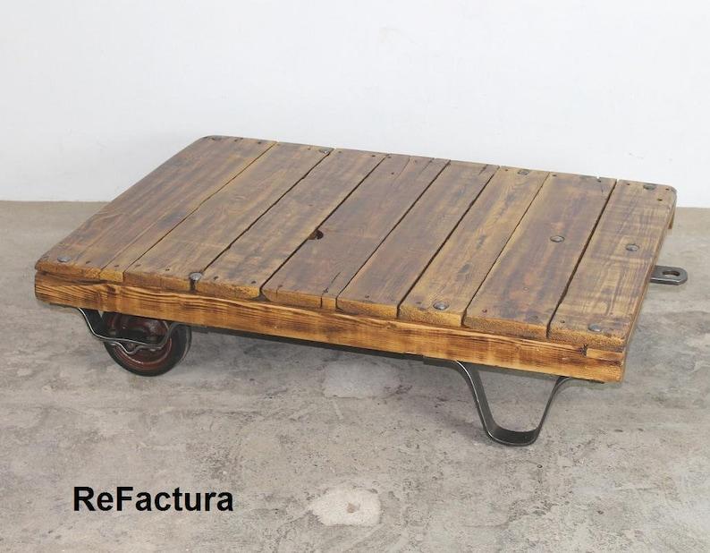 Trolley Coffee Table.Pallet Trolley Coffee Table Roll Pallet Lofttisch Palettenrollwagen Industrial Table Palettentisch Table