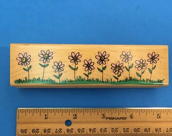 Posies All in a Row Border Stamp