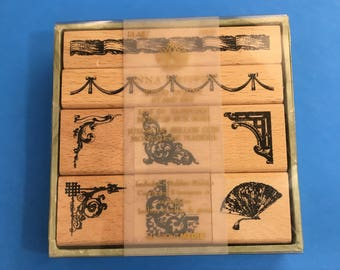 Borders and Corners Rubber Stamp Set