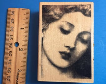 Woman in Repose, Rubber Stamp
