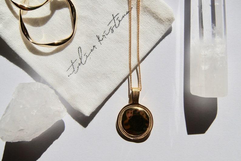 18 k Vergoldung minimalistische Halskette r\u00f6mische M\u00fcnze Halskette r\u00f6mischen Anh\u00e4nger r\u00f6mische Halskette M\u00fcnze Anh\u00e4nger Halskette
