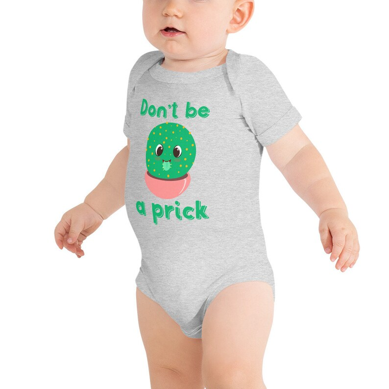 Don/'t Be a Prick Cactus Short Sleeve Baby Bodysuit T-Shirt