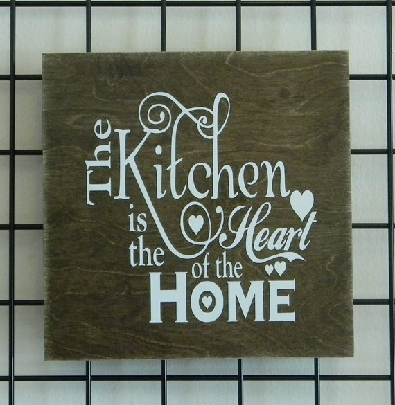 The Kitchen Is Heart Of Home Wall Decor Etsy