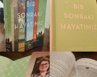 Signed and personalised hardback copy of The Next Together in TURKISH - Bir Sonraki Hayatımız