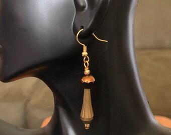 Brass & Glass Earrings