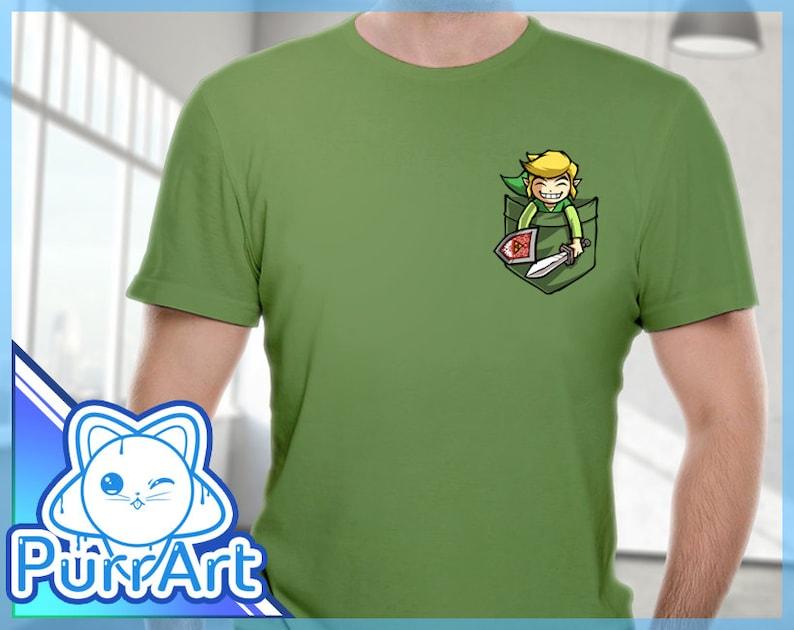 1cb4b3e0b Happy Pocket Link Zelda T-Shirt Zelda Shirt The Legend of | Etsy