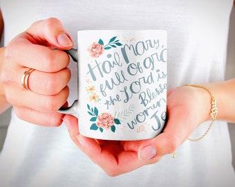 Hail Mary Prayer Mug