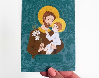 Litany of St. Joseph - Prayer Card - Postcard - Holy Card - Art Print - 4x6