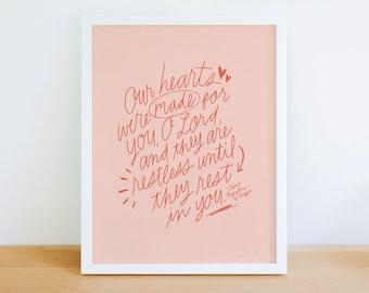 Restless Hearts - St. Augustine - Digital Print