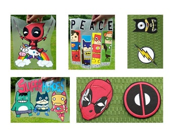 Super Heroes Iron-on Patch