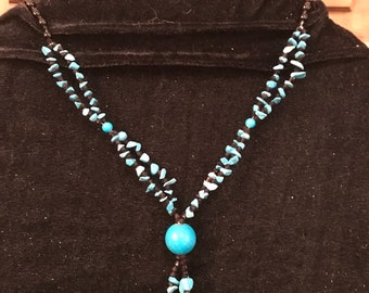 Black and teal necklace