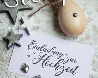 Stempel Einladung Zur Hochzeit