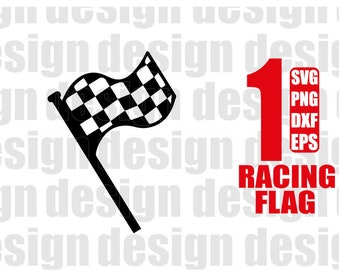 RACING FLAG SVG Race Flag Car Chequered Waving Checkered Svg Racing Silhouette Dxf Png