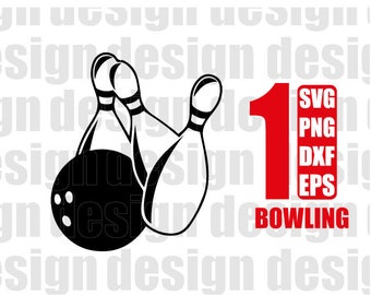 BOWLING SVG, bowling pin svg, bowler svg, clipart, decal, stencil, vinyl, cut file, silhouette, png, dxf, image, cricut file