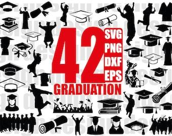 GRADUATION SVG, graduate svg, graduation cap svg, graduation svg files, university svg, college svg, student svg, school svg, silhouette cut