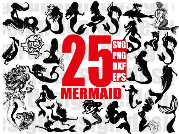 sea creatures mermaids svg mermaid silhouette mermaid stencil svg Mermaids clipart svg mermaid decal mermaids set svg mermaids bundle