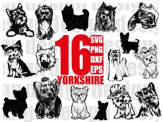 Yorkshire Terrier Svg Yorkie Svg Dog Svg Dog Clipart Etsy