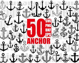 ANCHOR SVG, anchor clipart, nautical svg, anchor file, anchor Cut Files, svg dxf eps png Silhouette Cricut Transfer, Cutting Machine