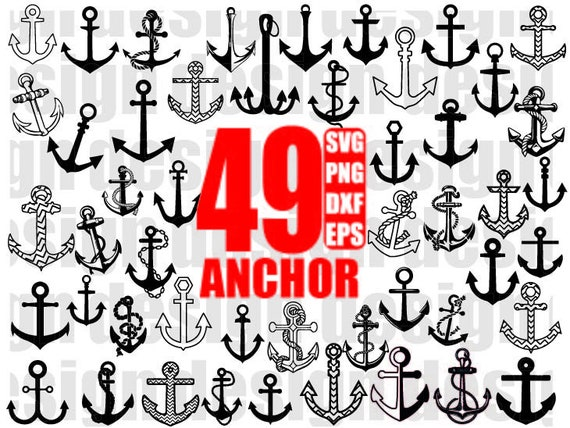 Anchor Svg Anchor Clipart Nautical Svg Anchor File Anchor Etsy
