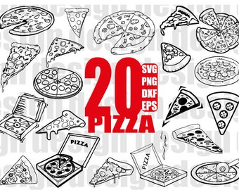 PIZZA SVG, food svg, pepperoni svg, pizza chef svg, pizza making, pizza slice svg, clipart, decal, stencil, vinyl, cut file, silhouette