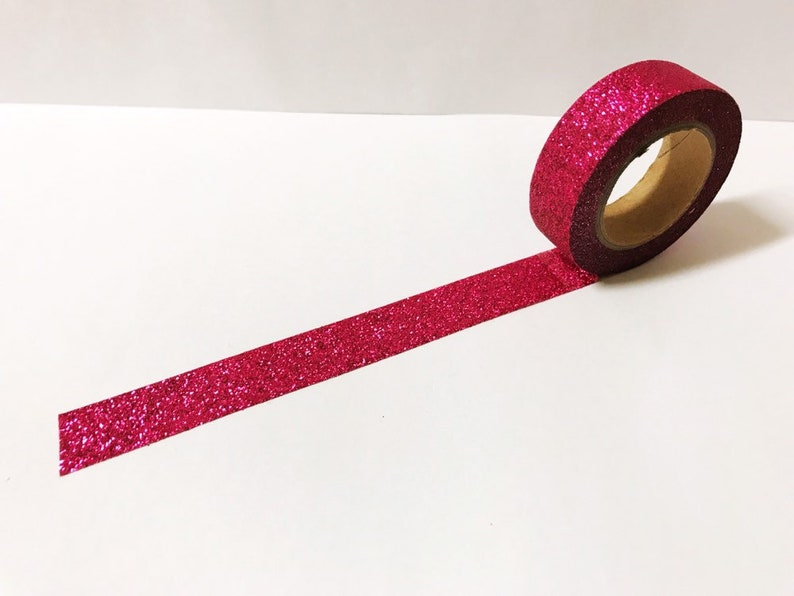 Craft Decorative Tape Peace Hope Joy Neon Pink Washi Tape