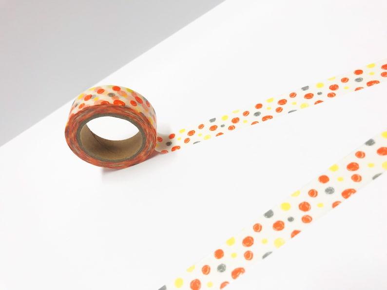 Orange Dots Washi Tape Bullet Journal Bright Washi Tape Planner Spotty Washi Tape Spots Washi Tape Pattern Washi Dotty Washi Tape