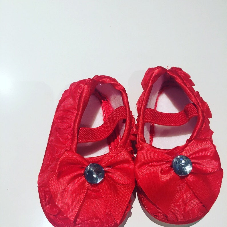 805db80ea0 Bling Baby shoes in Red encrusted with Crystals diamonds 0-6 months free  shipping