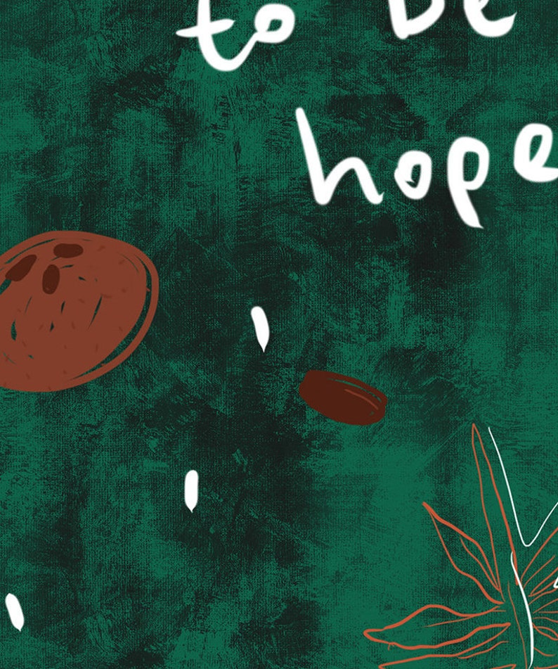 nature art plants art gift cocoa and coffee nibs art decor To Be Hopeful plants fine art digital printable instant download file