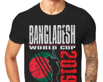 7538d3a37 Bangladesh World Cricket 2019 Cup England Wales Sports T Shirts For  Supporter Fans Gift Awesome Family Sporting Bangladeshi Fans