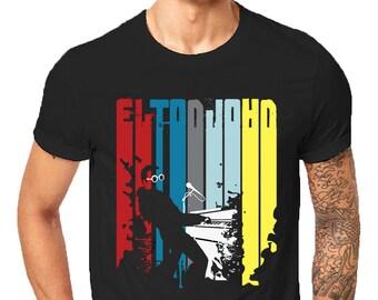 e0fe0b1ff4d4d Unisex Elton John Rocketman Rockstar Fearless Live Forever Xmas Inspired  Gift T-Shirt Birthday Christmas Funny Gift Tees