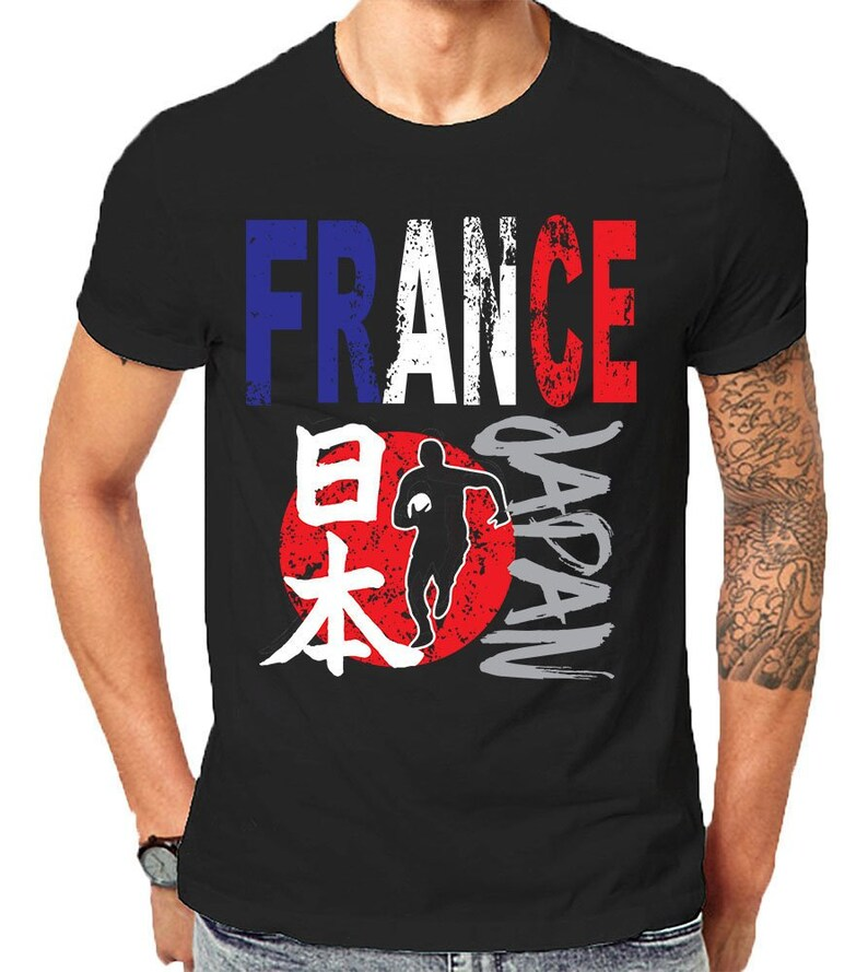 ddbecd635da World Rugby 2019 Cup Japan Sports T Shirts For France | Etsy