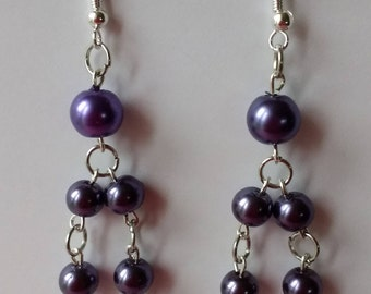 Purple pearls on double chain
