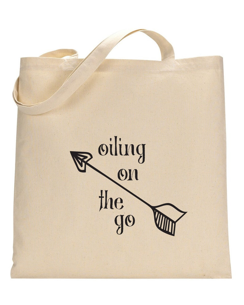 d4239c076 Oiling On the Go Canvas Tote Bag   Etsy