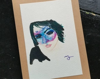 Stars in her Eyes - Blank Greeting Cards