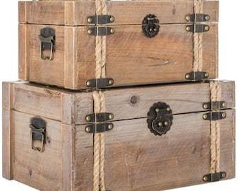 Antique Wood Box Set
