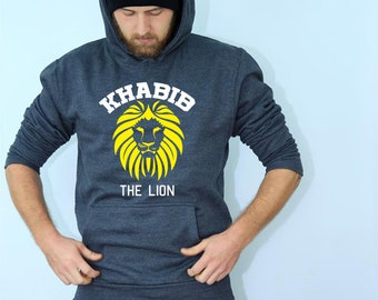 Khabib The Lion Sweatshirt MMA Martial Arts Gym Boxing Training Jumper Mens Gift