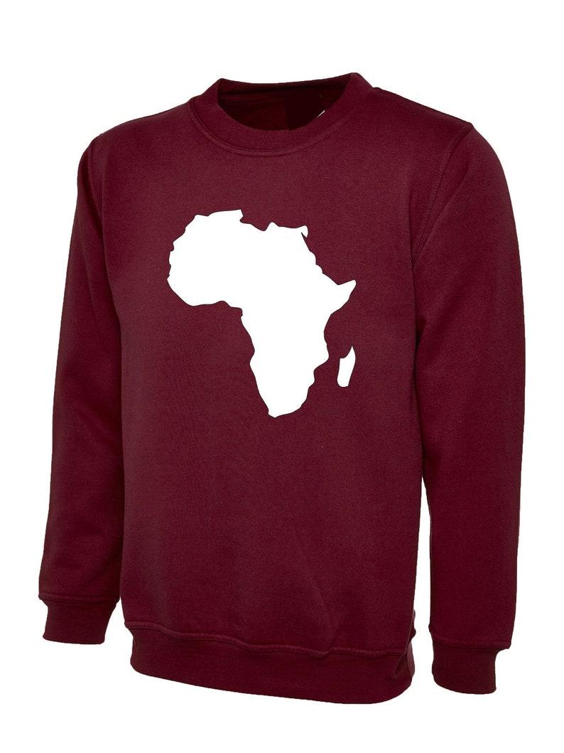 49245b4fb3c53 Afrique CONTINENT contour Sweat drapeau carte Black Power | Etsy