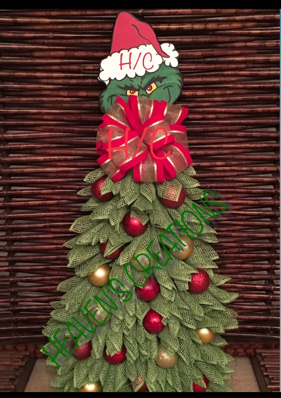 The Grinch Christmas Tree.Don T Let The Grinch Steal Christmas Tree Wreath