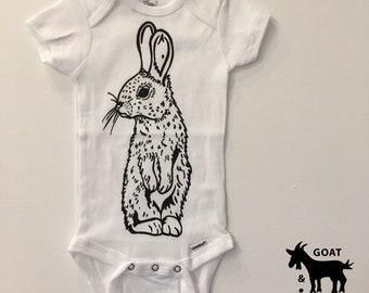 Bunny Onesie/ Toddler T 100% Cotton