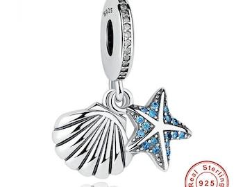 Starfish & Shell Charm