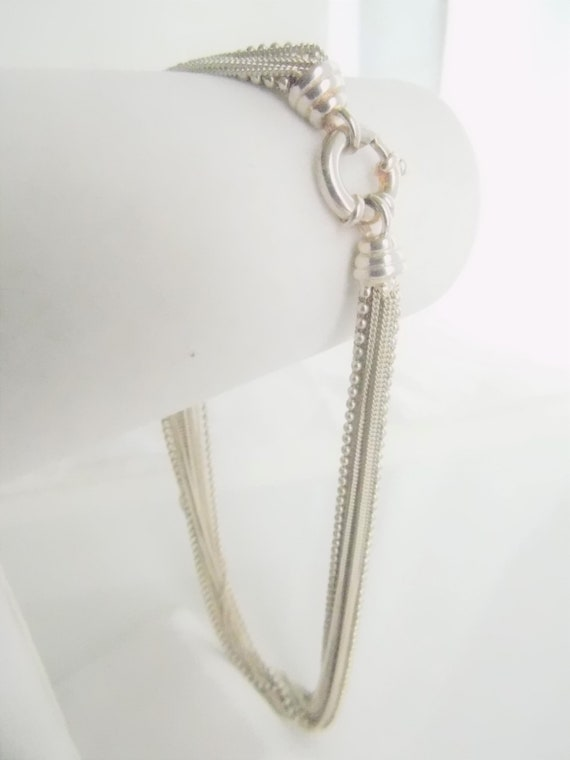 Sterling Silver Multi Chain Necklace   T2 - image 4