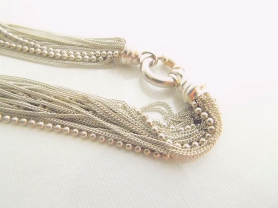 Sterling Silver Multi Chain Necklace   T2 - image 3