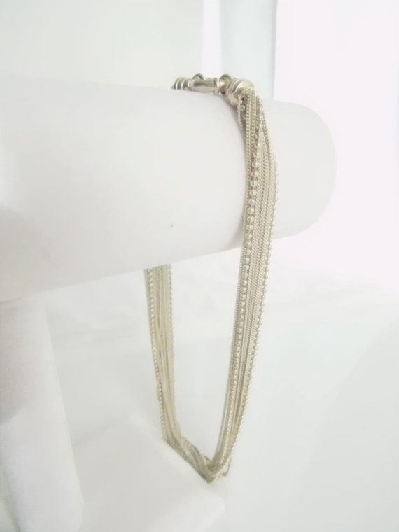 Sterling Silver Multi Chain Necklace   T2 - image 5
