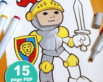 Medieval Kingdom Coloring Pages