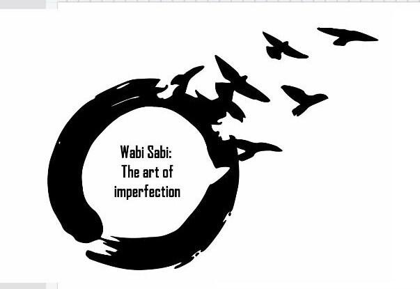 Wabi Sabi Design Vinyl Decal Beauty In Imperfection Etsy