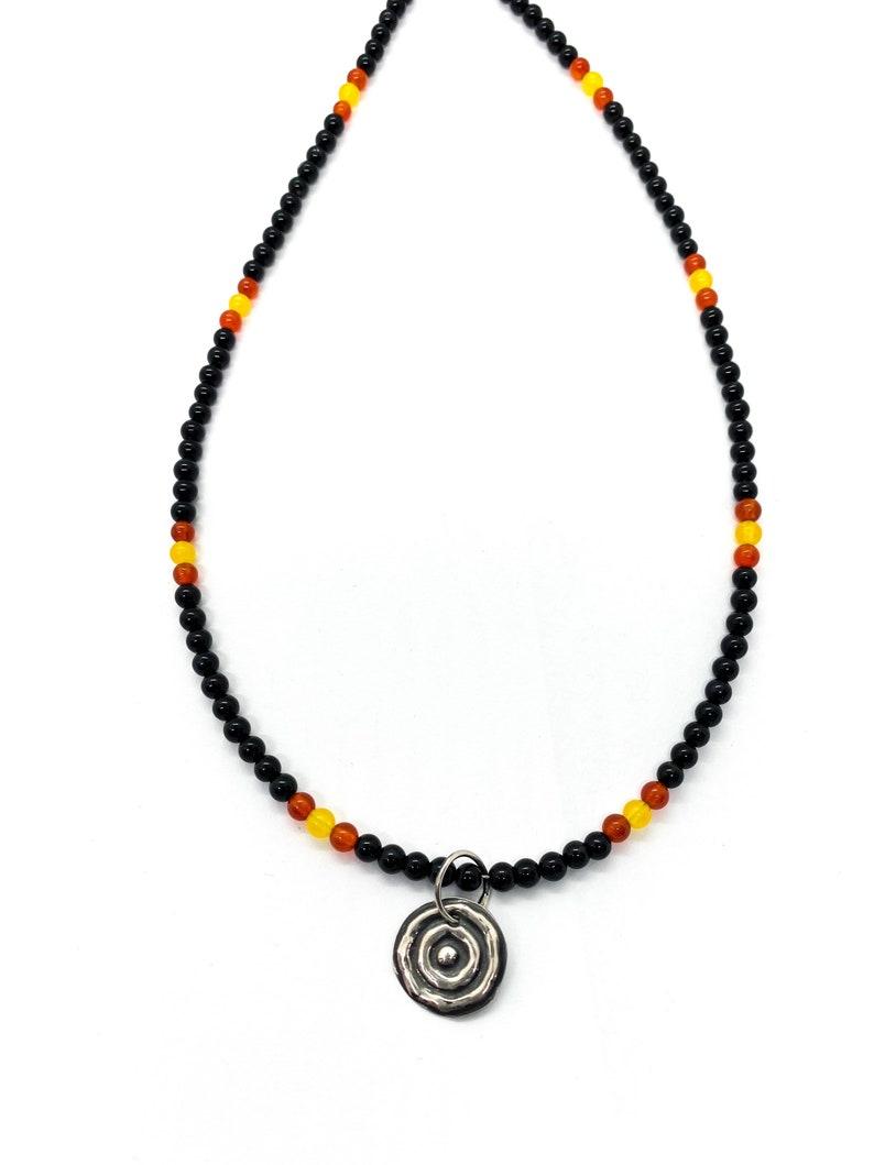 yuriyawi \u201cWaterhole\u201d Sterling Silver Agate Indigenous Artist Ngulburnan