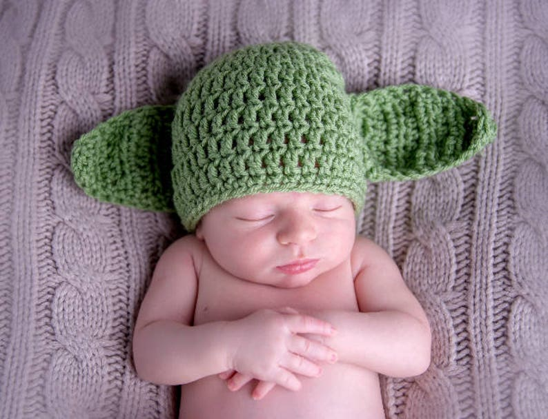 Star Wars Newborn Photo Prop Yoda Hat
