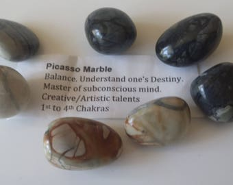 PICASSO MARBLE TUMBLED stone