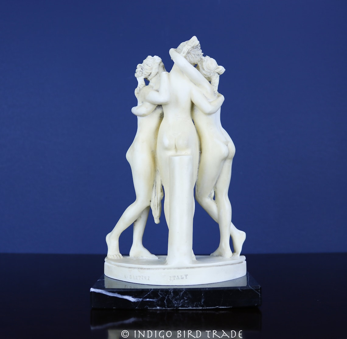 Vintage The Three Graces by Santini Italy Marble Dust